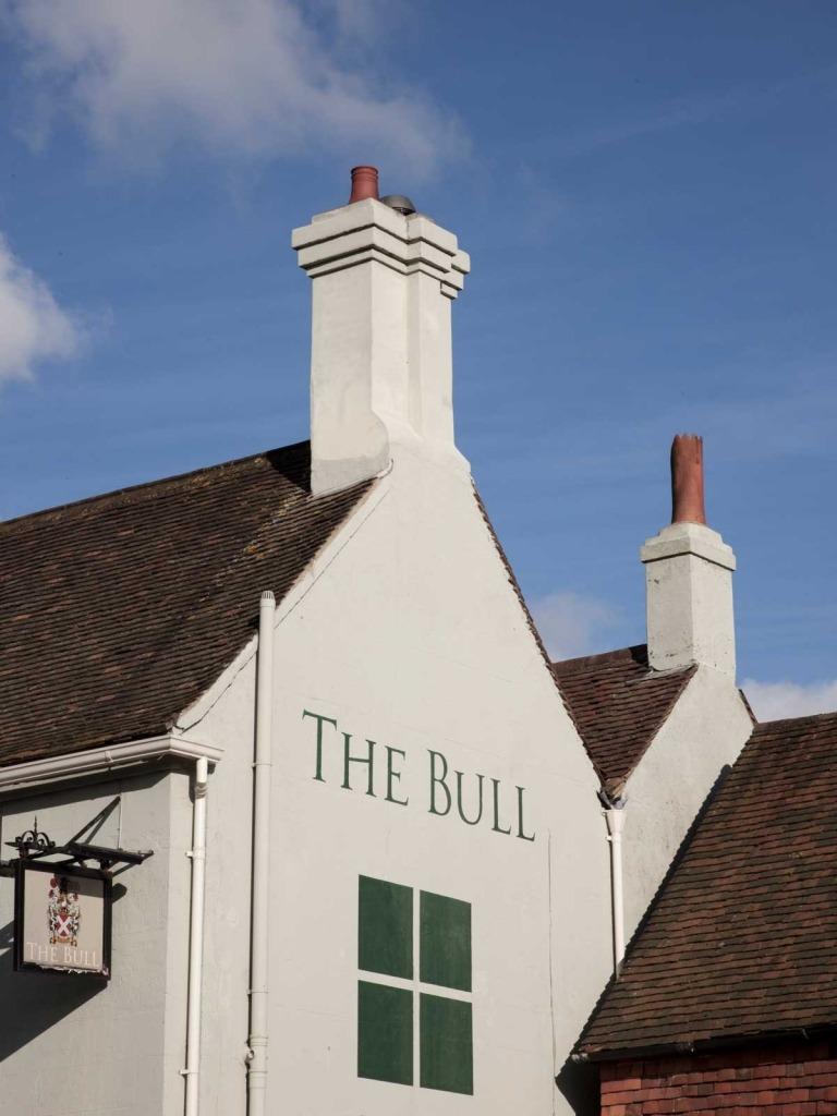 Exterior of The Bull pub