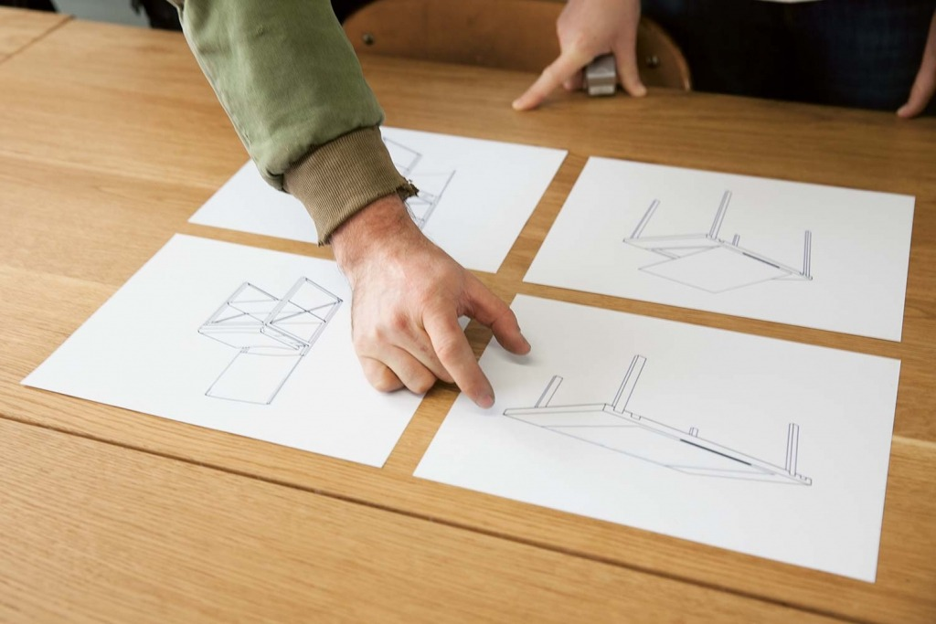 Stephen Kenn's sketches for his Victorinox collection