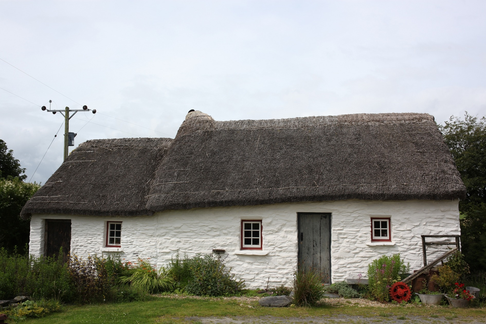 A traditional white cottage in Wales