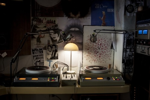 The M. Crow Radio booth in their Milan store