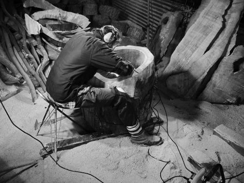 Joel Parkes at work in his studio