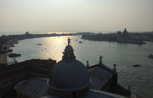The view from the church of San Giorgio Maggiore, designed by Palladio