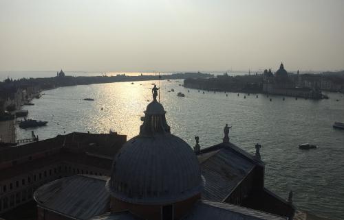 The view from the church of San Giorgio Maggiore, designed by Palladio