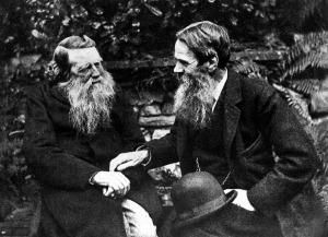John Ruskin (left) pictured with Pre-Raphaelite Brotherhood founder William Holman Hunt